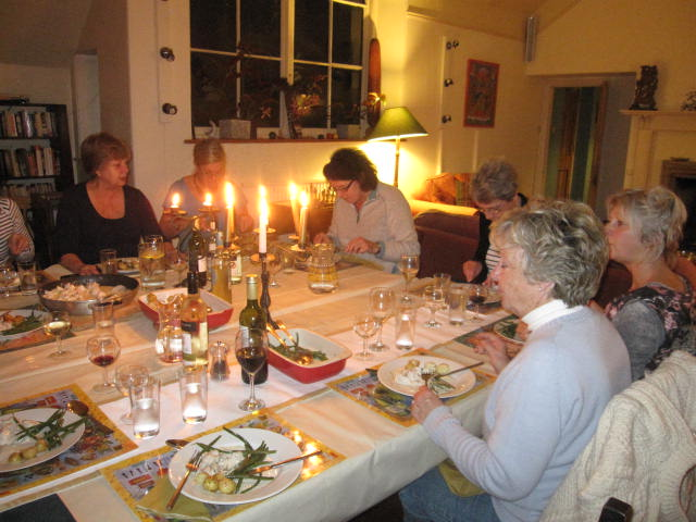 Dining at The Writing Retreat